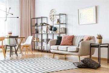 עיצוב הסלון עם שטיחים